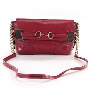 Antonio Melani Red leather crossbody bag